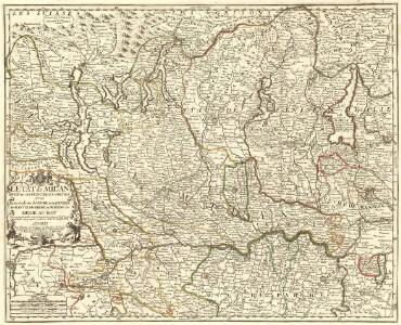 L'Etat de Milan divisé en ses Principales Parties avec Partie des Etats de Venise et des Duchés de Mantoue, de Parme, et Modene &c.