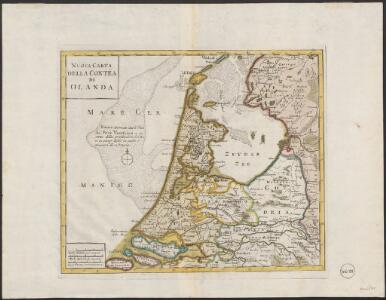 Nuova carta della contèa di Olanda