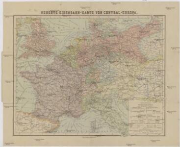 Neueste Eisenbahn-Karte von Central-Europa