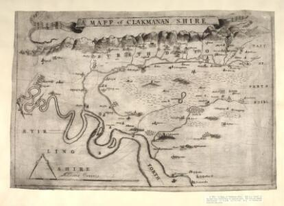 A Mapp of Clakmanan Shire. A map of Clackmannanshire.