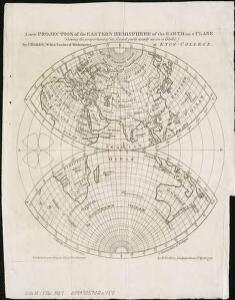 A new projection of the Eastern Hemisphere of the earth on a plane, shewing the proportions of its several parts nearly as on a globe
