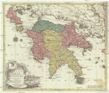 Regnum Moreae accuratissime divisum in provincias Saccaniam, Tzaconiam, Caliscopium et ducatum Clarensae