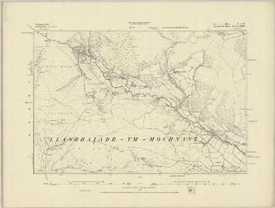 Montgomeryshire V.SE - OS Six-Inch Map