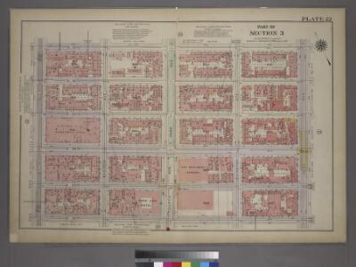 Plate 22, Part of Section 3: [Bounded by E. 37th Street, Third Avenue, E. 32nd Street and Fifth Avenue.]