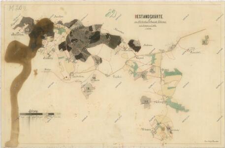 Porostní mapa hospodářského obvodu Dlažov
