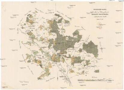 Uibersichts-Karte der hochfürstlich zu Schwarzenbergschen Domaine Frauenberg nach dem Stande im Jahre 1876