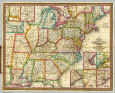 Mitchell's Travellers Guide Through The United States.