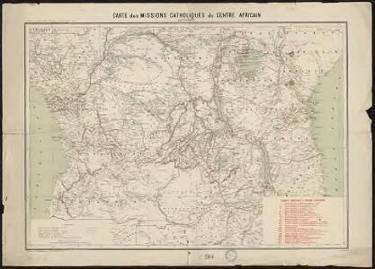 Carte des missions catholiques du centre africain