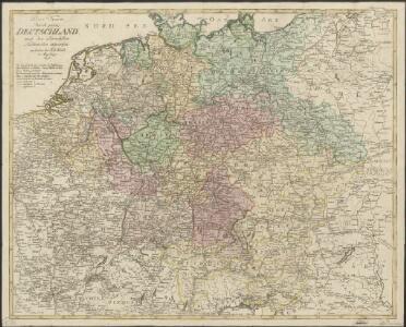 Post Karte durch ganz Deutschland, nach den allerneusten Nachrichten entworfen