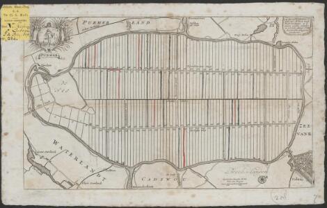 Purmer: de Purmer is gemeeten A° 1622 door Mr. Lucas Jansz Zinck landmeter, en op nieuws oversien verbeetert en in 't licht gebragt A° 1683 door Joannes Leupenius landmeter