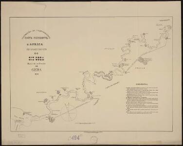 Costa Occidental d'Africa, Provincia da Guiné. Reconhecimento do Rio Ceba desde a foz do Corubal até Geba