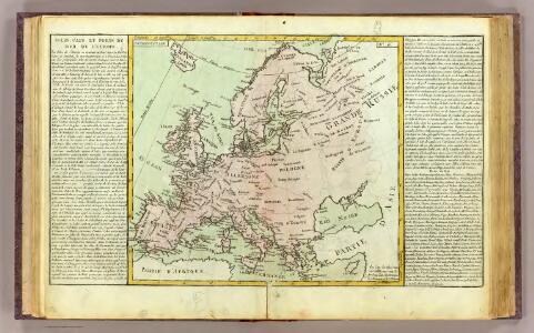 L'Europe isles, caps, ports.