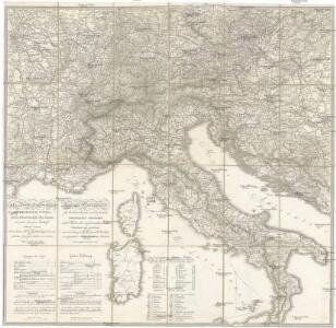 Carta delle poste e stazioni militari per le provincie d'Italia