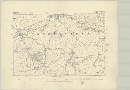 Montgomeryshire XXIV.SW - OS Six-Inch Map