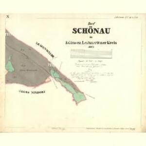 Schönau - c8462-1-012 - Kaiserpflichtexemplar der Landkarten des stabilen Katasters
