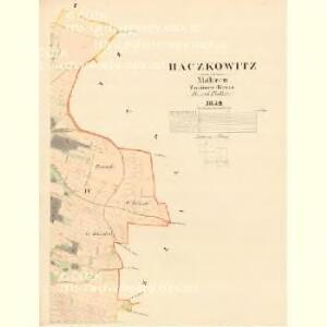 Baczkowitz - m0026-1-004 - Kaiserpflichtexemplar der Landkarten des stabilen Katasters