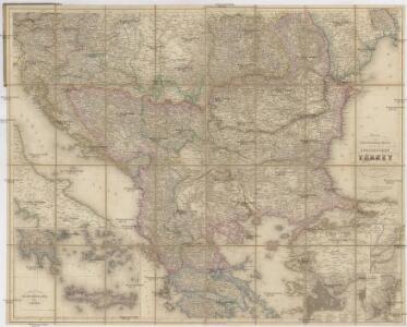 Neueste Special & Kriegs-Karte der europäischen Türkey in IV Blättern