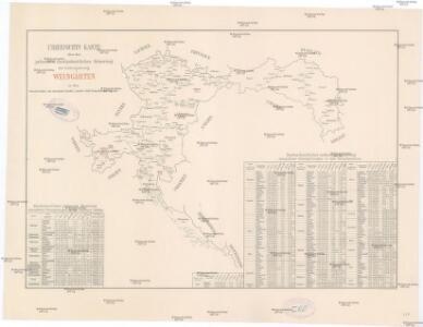 Uibersichts Karte über den jochweisen durchschnittlichen Reinertrag der Culturgattung Weingärten in den Grenzbezirken der einzelnen Landes u. Landes-Sub-Commissions-Rayons