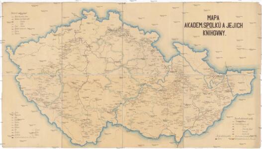 Mapa akadem. spolků a jejich knihovny