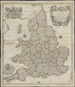 A new map containing all the citties, market townes, rivers, bridges, & other considerable places in England & Wales, wherein are delineated ye roads from towne to towne, & ye number of reputed miles between them, are given by inspection without scale or compas [...]