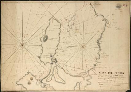 Plano del Puerto de la Concepcion de Chile, citu[a]da la Poblacion de Talcaguano en la latitud S. de 36o,42',28