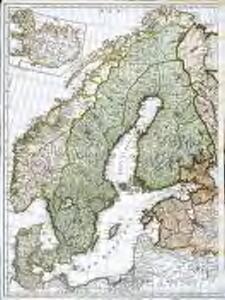 Seconde partie de la carte d'Europe contenant le Danemark et la Norwege, la Suède et la Russie (a l'exeption de l'Ukraine), 2