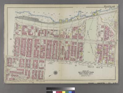 [Plate 43: Bounded by Hudson River (Riverside Drive), W. 158th Street, Amsterdam Avenue, W. 147th Street, St. Nicholas Avenue, W. 141st Street, Amsterdam Avenue, and W. 142nd Street.]