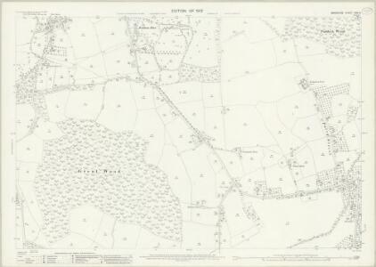 Berkshire XXXI.9 (includes: Bray; Shottesbrooke; White Waltham) - 25 Inch Map