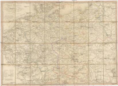 Post Karte von Deutschland und den angraenzenden Laendern vorzüglich der preussischen Staaten