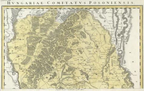Comitatvs Posoniensis Germanis Presbvrg dicti Delineatio Geographica