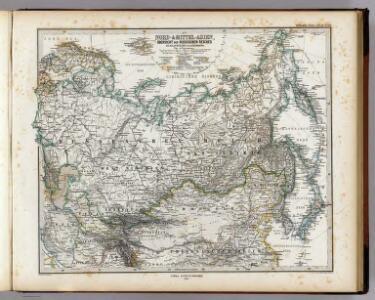 Nord- & Mittel-Asien, Ubersicht Des Russischen Reiches.