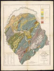 Carte géologique des parties de la Savoie, du Piémont et de la Suisse voisines du Mont Blanc