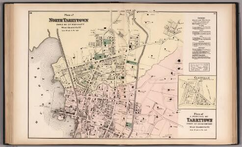 North Tarrytown and Tarrytown, Westchester County, New York.  (inset) Glenville.