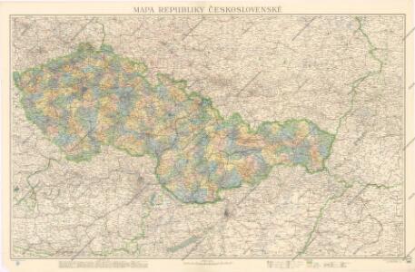 Mapa republiky Československé
