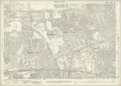 London (1915- Numbered sheets) IV.14 (includes: Acton; Chiswick St Nicholas; Hammersmith) - 25 Inch Map