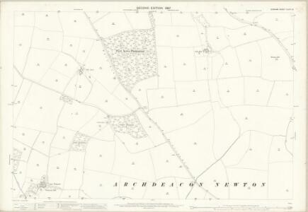 Durham XLVIII.16 (includes: Archdeanon Newton; Coatham Mundeville; Walworth; Whessoe) - 25 Inch Map