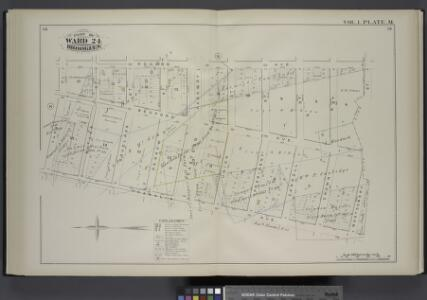 Vol. 1. Plate, M. [Map bound by Roges Ave., City Line, Franklin Ave., Park PL; Including Bedford Ave., Butler St., Douglass St., Degraw St., Eastern Parkway, Union St., President St., Carroll St., Crown St., Montgomery St.]