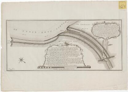 Kaart of Platte Grond-Tekening, van den nieuwen Yssel-mond door de Pley, strekkende uit den Beneden Rhyn tot in den Ouden Yssel, by de Westervoordsche Veerdam, gegraven in den Jaare 1773,1774 en 1775. zo als dezelve by de opneminge en peilingen verrigt in