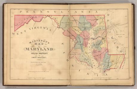 Martenet's Map of Maryland, Atlas Edition.