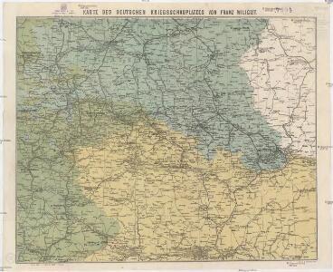 Karte des deuschen Krieggschauplatzes