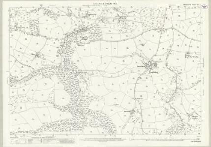 Devon XLIV.4 (includes: Cruwys Morchard; Templeton; Tiverton) - 25 Inch Map