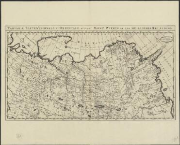 Tartarie septentrionale et orientale suivant Monsr. Witsen et les meilleures relations