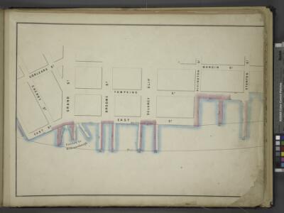 [Map bounded by Corlears St, Mangin St, Stanton St,   Pier - Line 55-62, Cherry St; Including Tompkins St, East St, Grand St, Broome   St, Delancy Slip, Rivington St]