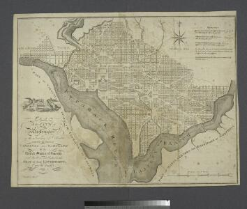 Plan of the city of Washington in the territory of Columbia : ceded by the states of Virginia and Maryland to the United States of America and by them established as the seat of their government, after the year 1800 / Rollinson sculp't N. York.