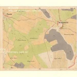 Krzizowitz - c3672-1-006 - Kaiserpflichtexemplar der Landkarten des stabilen Katasters