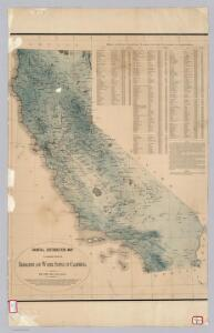 Average Rainfall Distribution in California.