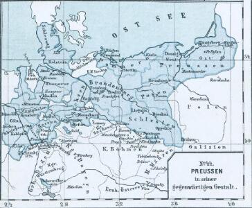 Das allmälige Wachsthum des preussischen Staates. No. 44 Preussen in seiner gegenwärtigen Gestalt