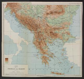 Carte de la Péninsule des Balkans