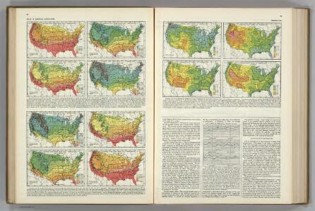 Temperature Thresholds by Date.  Range of Temperatures.  Atlas of American Agriculture.