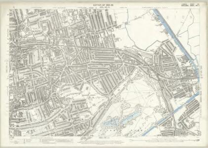 London (Edition of 1894-96) XLI (includes: Bethnal Green; Hackney; Poplar Borough) - 25 Inch Map